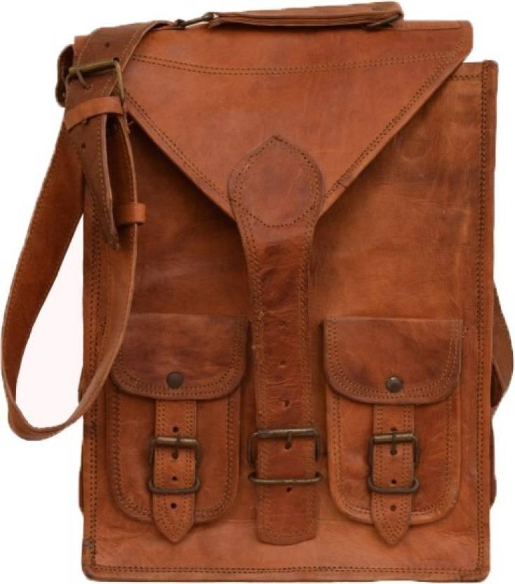 6d7919d60c Pranjals House 100% genuine leather 15 L Laptop Backpack brown ...