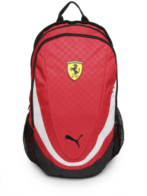 Puma Ferrari Replica Large Backpack Red - Price in India  8fcf61130f487