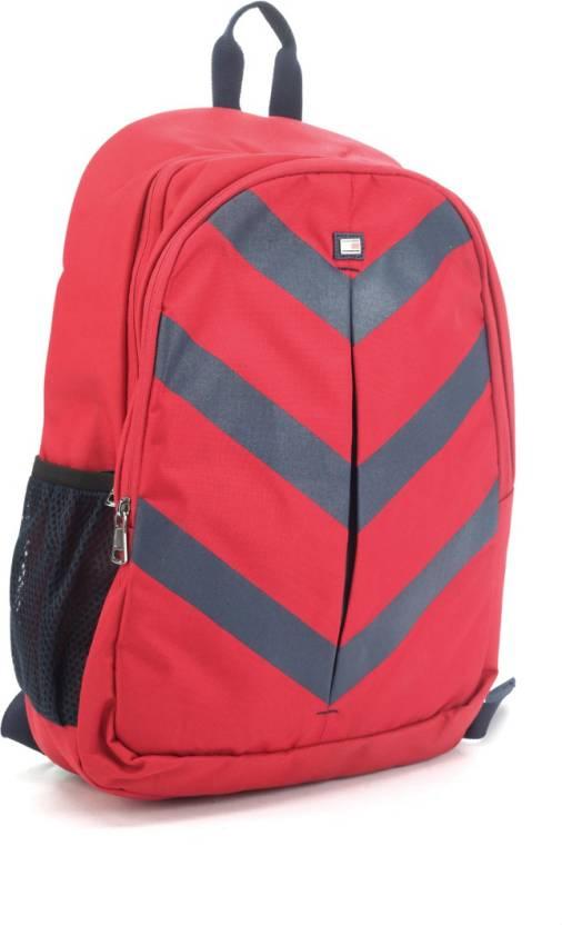 9f5f091379 Tommy Hilfiger Biker Club Delta 15.8 L Medium Laptop Backpack (Red, Grey)