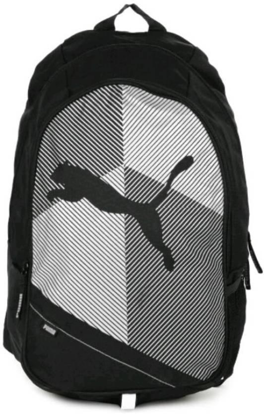 a9b22dec94 Puma Echo Plus 27 L Medium Backpack Black And White - Price in India ...