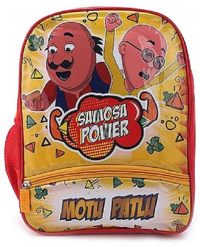 Flipkart Com Motu Patlu Samosa Power Print 14 Inch Red Yellow