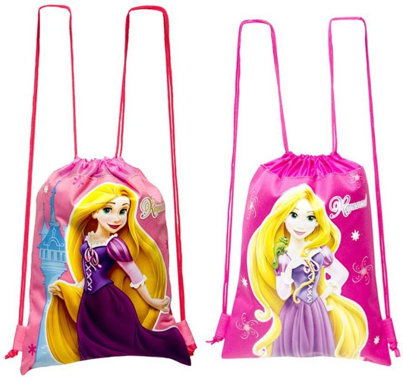 c908aa4fc Disney Princess Rapunzel Drawstring Backpack 2 Pack Waterproof School Bag  (Multicolor
