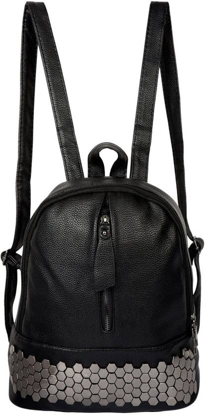 AllExtreme Women Leather Backpack for Girls   Ladies - Stylish Fashion  Shoulder Bag PU Leather Rucksack Travel Bag Backpack (Black 5ba4581aa7b6b
