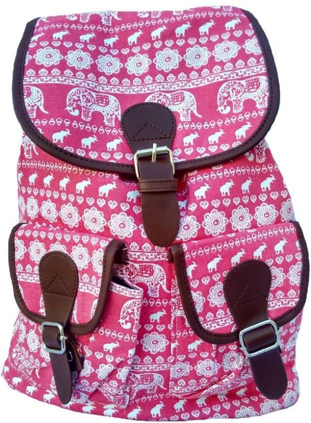 33793ffd945 FASHION BAZAAR INDIA PINK FANCY COLLEGE BAG FOR GIRLS 20 L Backpack ...