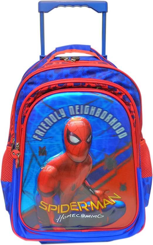 3ec7125dd94 Marvel Spiderman Homecoming Blue School Bag 16 inches T School Bag (Blue,  29 L)