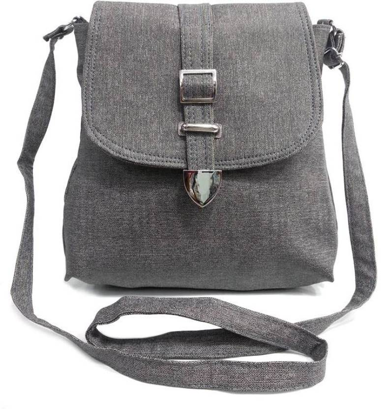81b74695f3ab Belladona Girls Grey PU Sling Bag