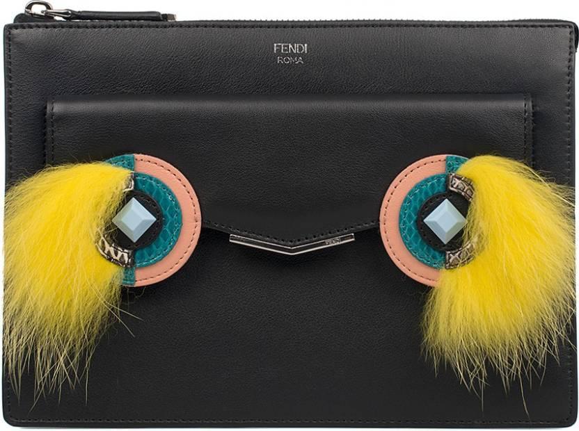 26d6a86aefca Fendi Women Black Genuine Leather Sling Bag Black - Price in India ...