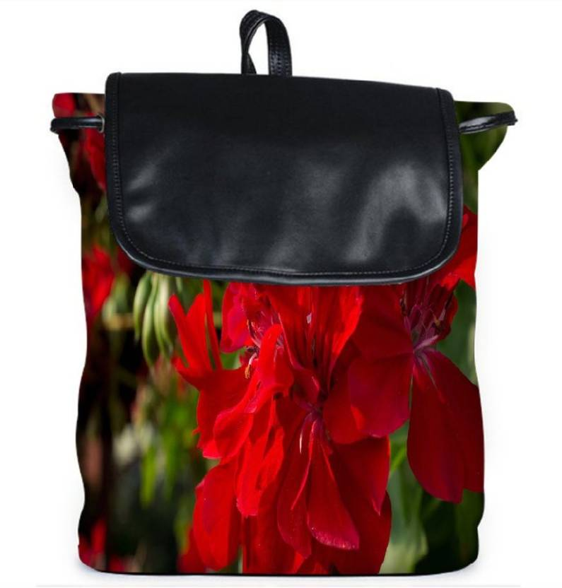 c0b8054384 Snoogg Red Floral Women S Girl S Casual Vintage Canvas Backpack School  Outdoor Travel Sling Bags
