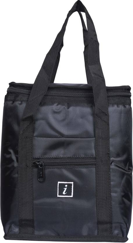 FabSeasons Lunch Bag Waterproof School Bag Black, 6 inch
