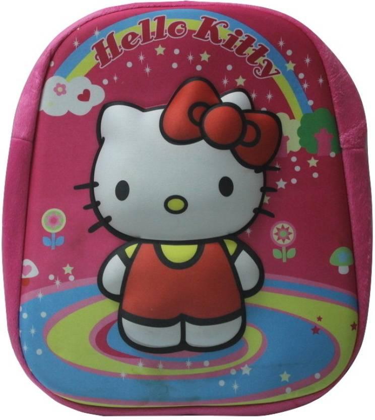 SILTASON SHAKTI 3D EMBOSSED HELLO KITTY School Bag (Pink 817077ac03794
