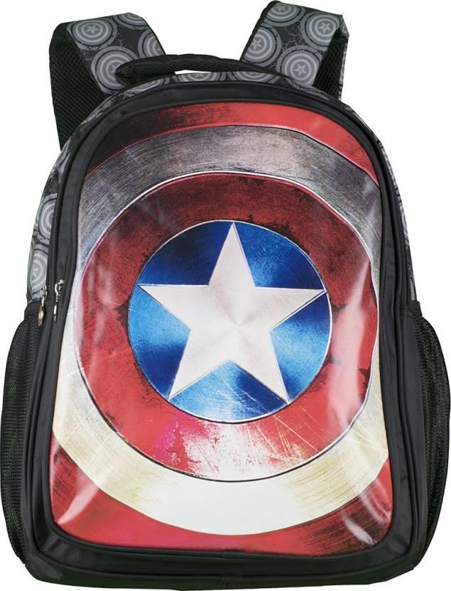 6ee88addc1ea Captain America Captain America Sheild - 19 inch Bag Waterproof School Bag  (Black