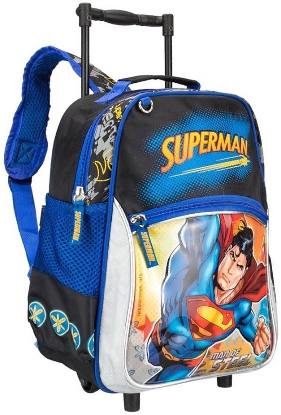 57e1ddfd87 Star X Superman School Waterproof Trolley (Black