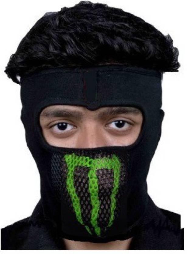 48e7df19378 Empower Earth Black Bike Face Mask for Men   Women Price in India ...