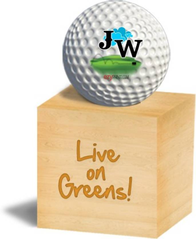 "ezyPRNT ""JW"" Golf Ball -   Size: 4,  Diameter: 4.26 cm"