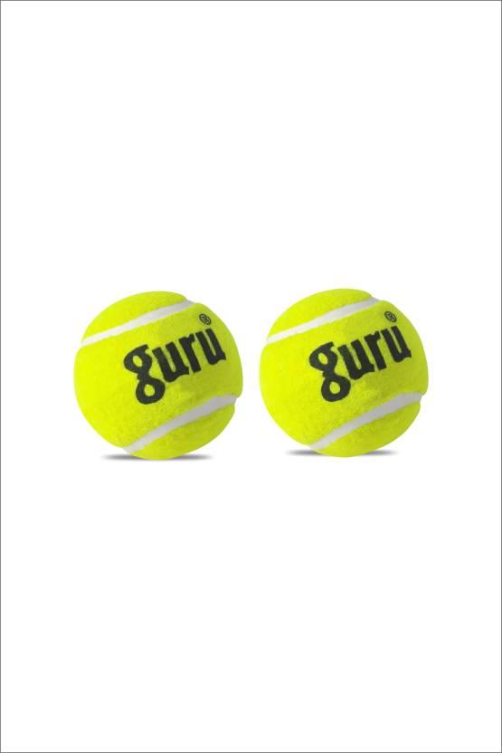 Guru Cricket Tennis Ball -   Size: Standard,  Diameter: 6.5 cm