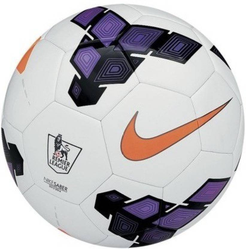 Fitness Begins Now!! 30-80% Off On Sports & Fitness By Flipkart | RetailWorld Premier League Strike Football - Size: 5, Diameter: 5 cm  (Pack of 1, white/Purple) @ Rs.434