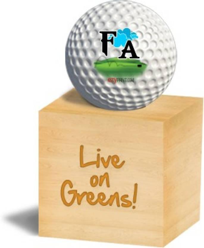 """ezyPRNT """"FA"""" Golf Ball -   Size: 4"""