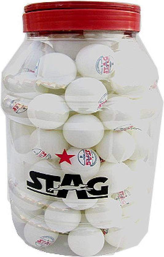 Stag One Star Ping Pong Ball Pack of 30 Ping Pong Ball -   Size: 4