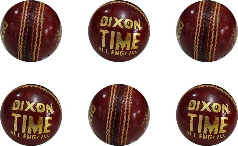 Dixon Time Leather Cricket Ball -   Size: Standard,  Diameter: 7.2 cm