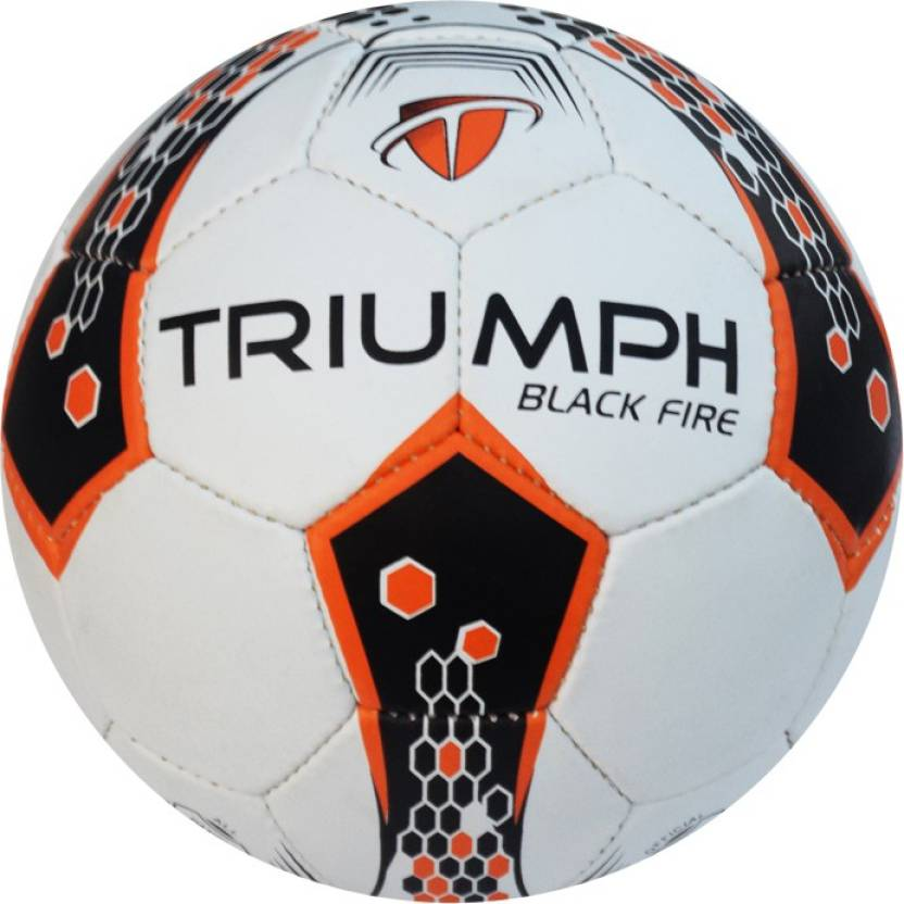 Triumph Black Fire Football -   Size: 5,  Diameter: 2.5 cm