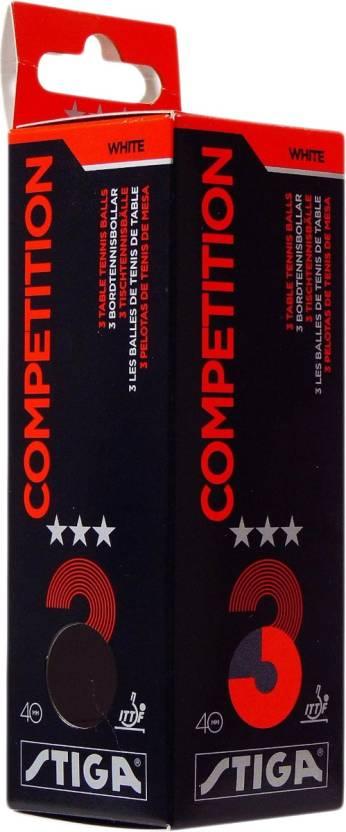 Cosco Stiga Competition TT Balls Ping Pong Ball -   Size: 4,  Diameter: 4 cm