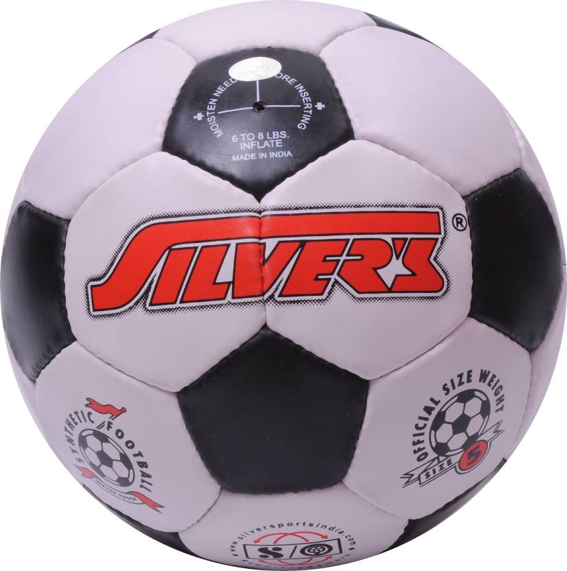Silver's Black & White Football