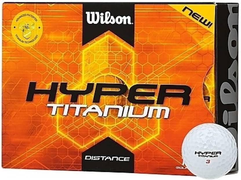 Wilson Hyper Titanium Distance Golf Ball -   Size: Standard