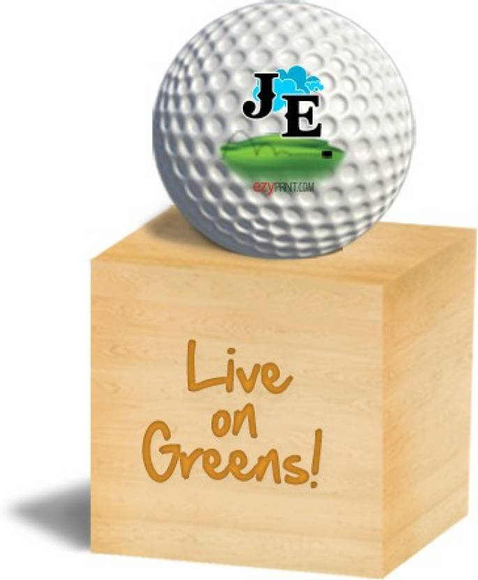 "ezyPRNT ""JE"" Golf Ball -   Size: 4,  Diameter: 4.26 cm"