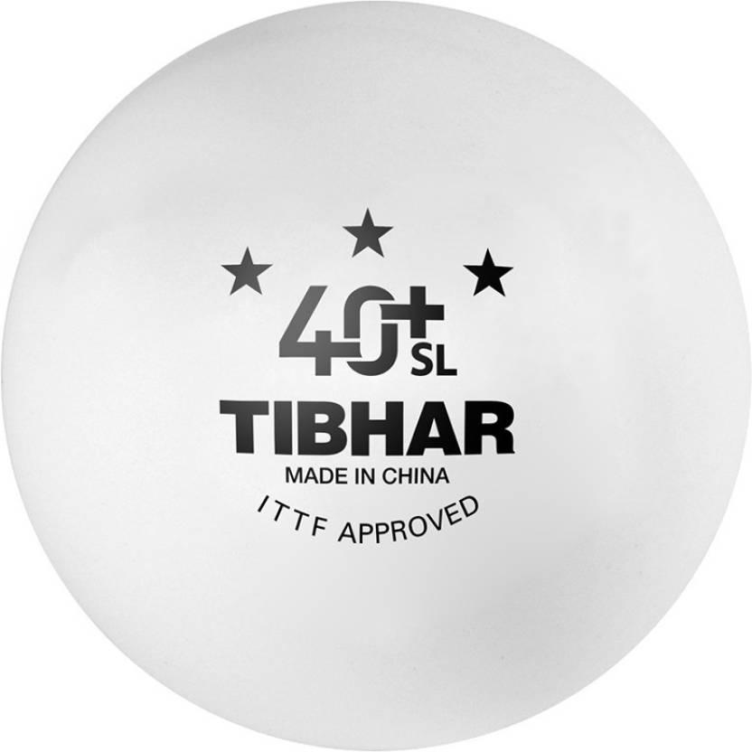Tibhar 40+ SL Seamless Poly Ping Pong Ball -   Size: 4,  Diameter: 4.01 cm