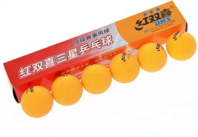 DHS 3 Star Table Tennis Balls Ping Pong Ball -   Size: 40MM