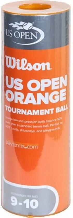 Wilson U.S. Open Orange Tournament Tennis Ball -   Size: 2