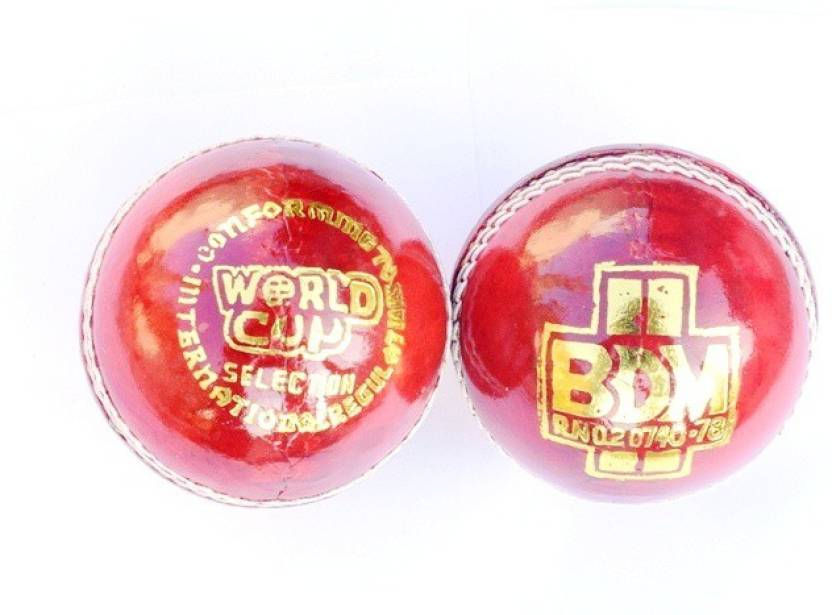 BDM WORLD CUP Cricket Ball -   Size: 5,  Diameter: 2.5 cm