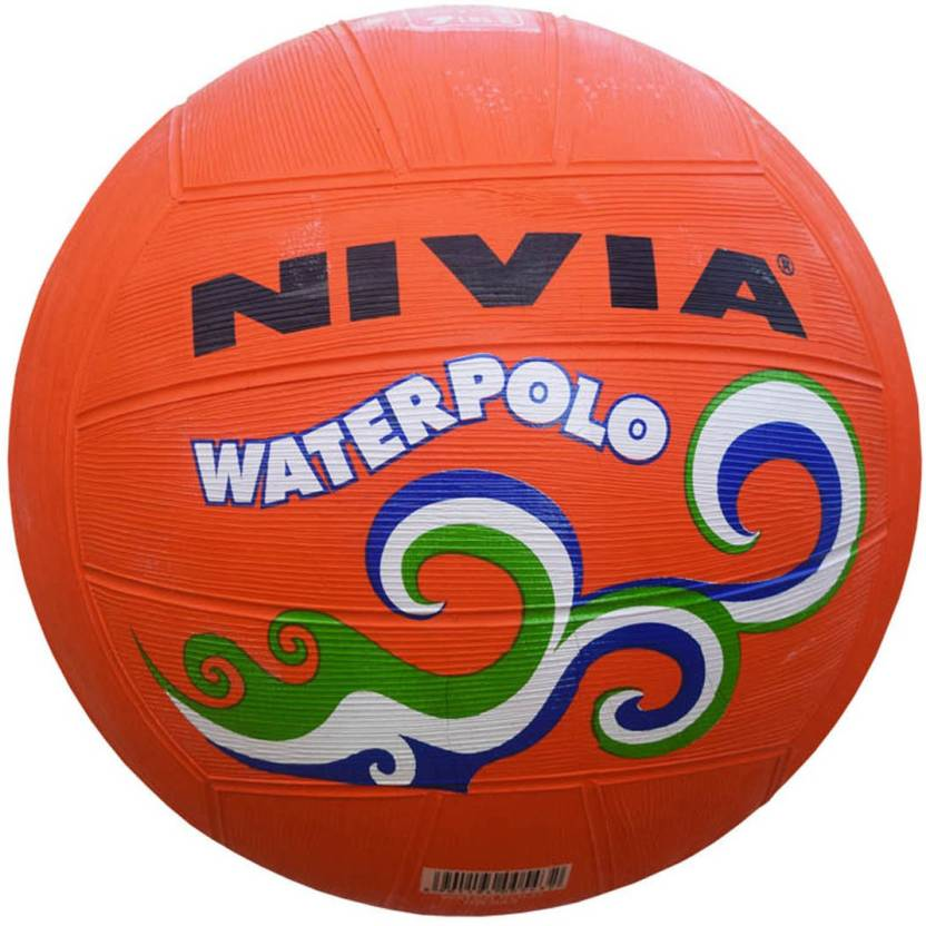 Nivia Water Polo Orange Water Polo Ball -   Size: 4