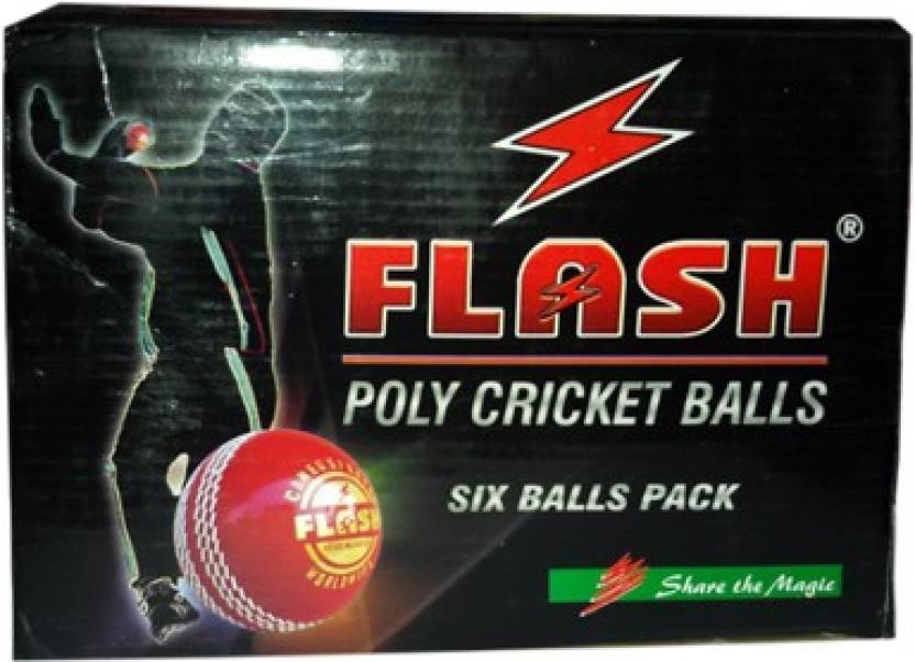 Flash Synthetic Cricket Ball -   Size: standard