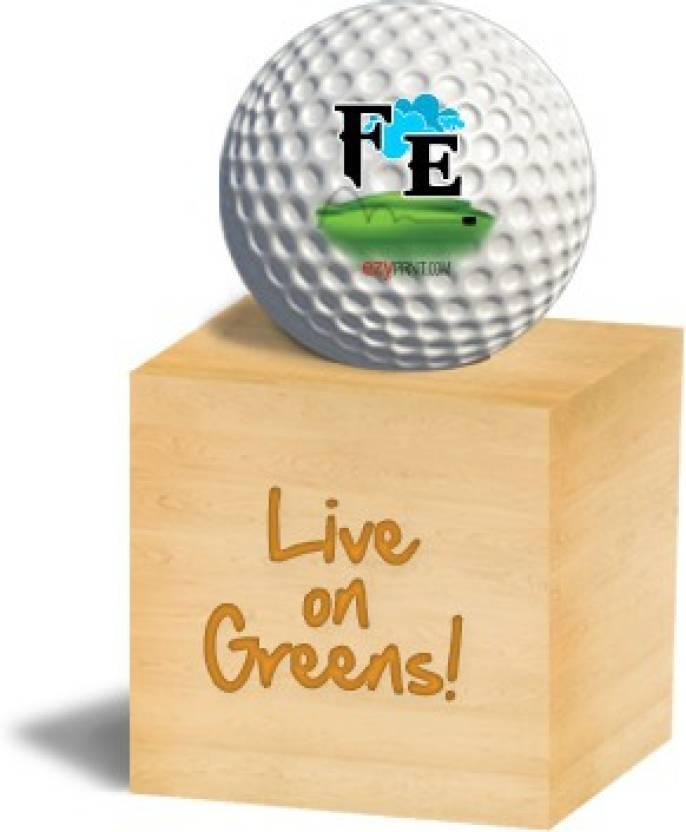 """ezyPRNT """"FE"""" Golf Ball -   Size: 4"""