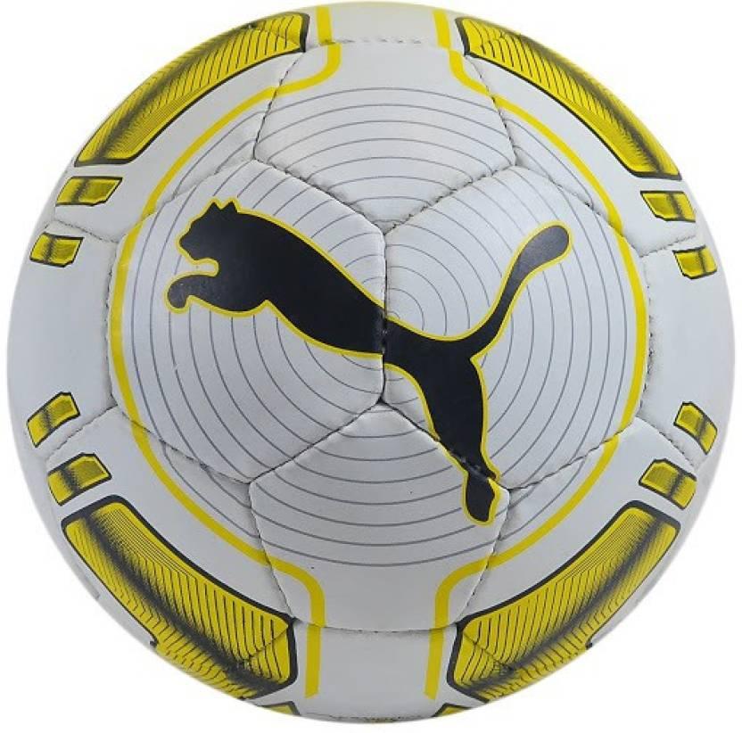 4731834202ec Puma Evo Power Hard Ground 4 Football - Size: 5 (Pack of 1, White, Yellow,  Black)