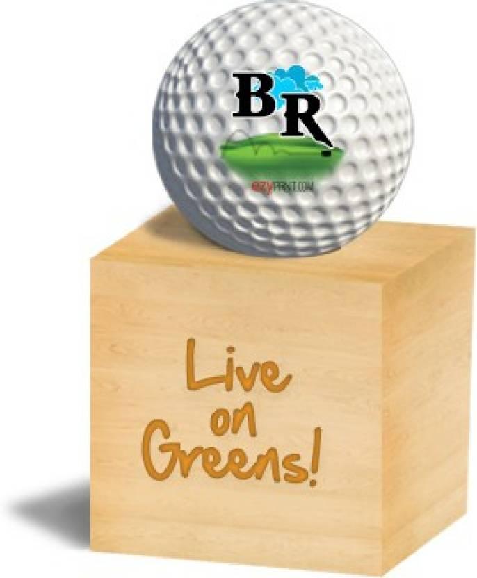 "ezyPRNT ""BR"" Golf Ball -   Size: 4,  Diameter: 4.26 cm"