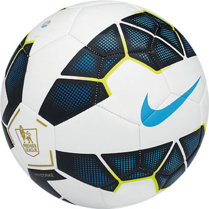 Nike Strike Pl Football - Size: 5, Diameter: 22 cm  (Pack of 1, White, Blue, Black)