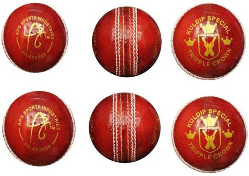 APG TRIPPLE CROWN Cricket Ball -   Size: 5