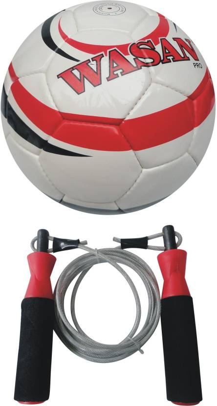 Wasan Pro With Free Skipping Rope Football -   Size: 5,  Diameter: 70 cm