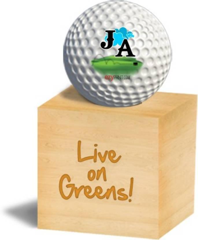 """ezyPRNT """"JA"""" Golf Ball -   Size: 4"""