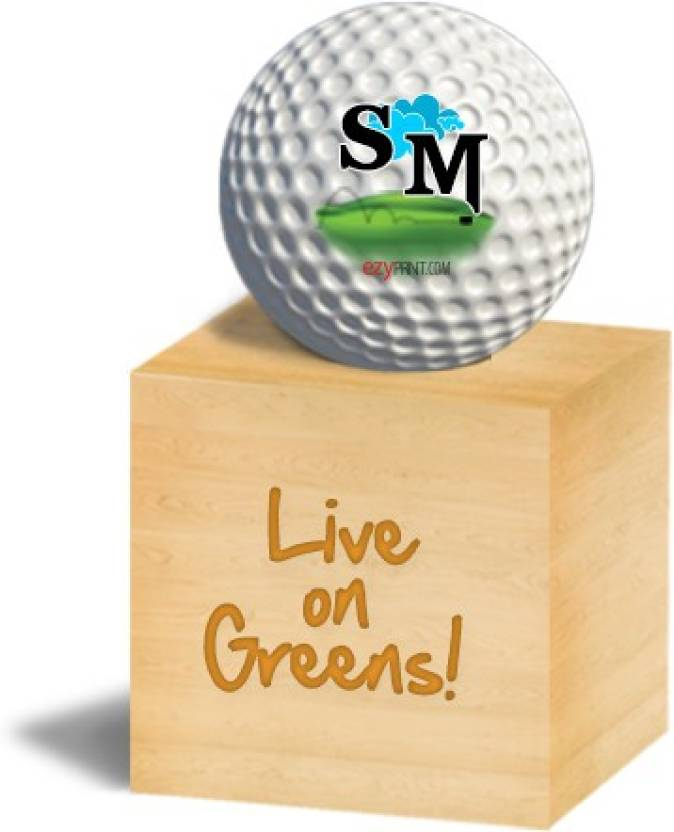 "ezyPRNT ""SM"" Golf Ball -   Size: 4.26 cm"