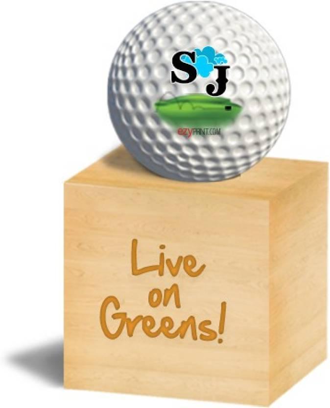 """ezyPRNT """"SJ"""" Golf Ball -   Size: 4.26 cm"""