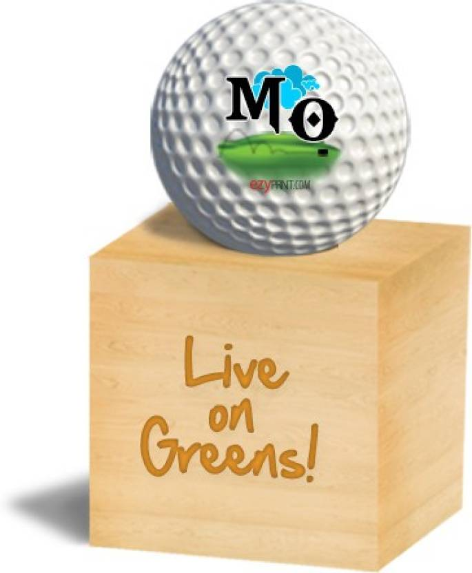 "ezyPRNT ""MO"" Golf Ball -   Size: 4.26 cm"