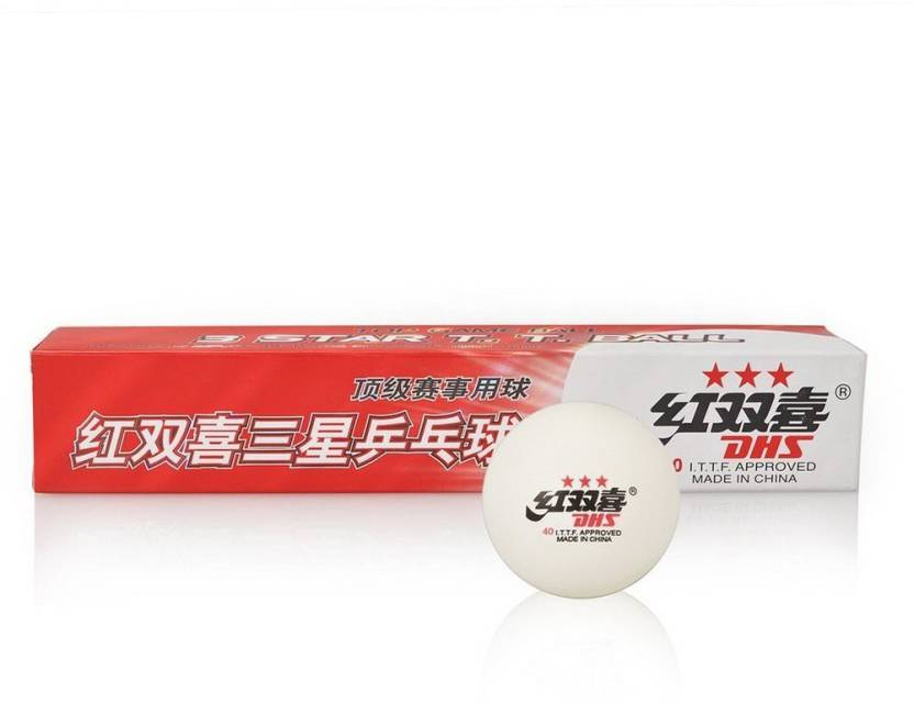 DHS 3 Star Ping Pong Ball -   Size: 40MM,  Diameter: 4 cm