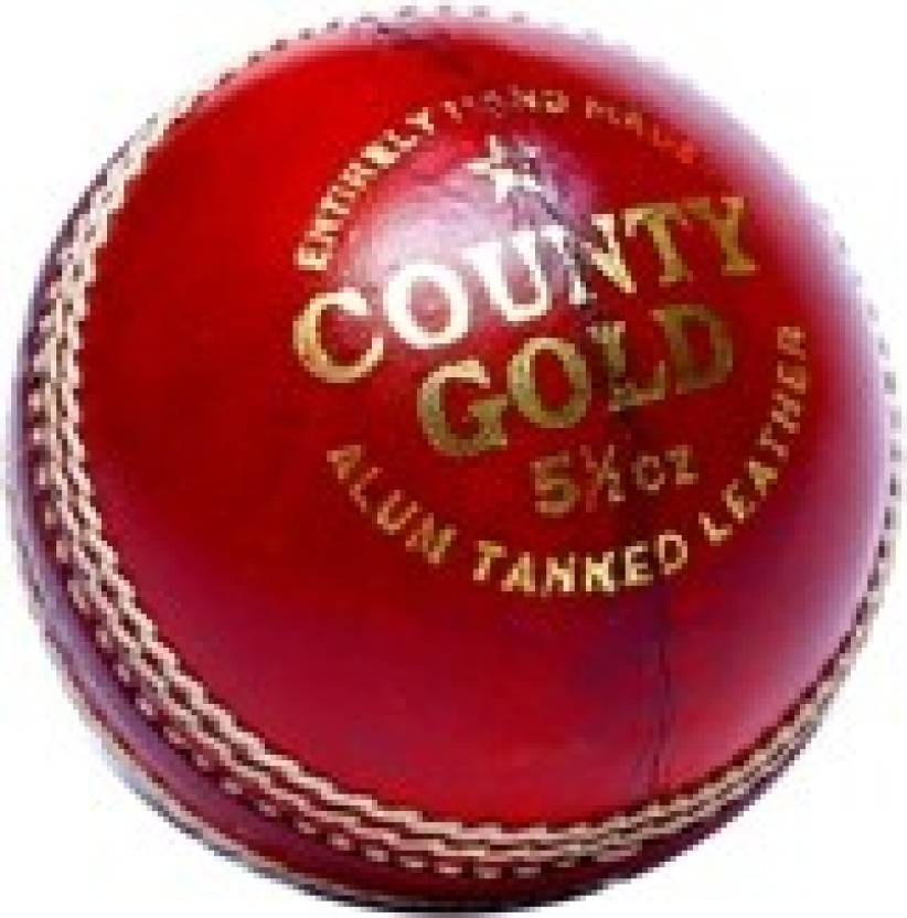 Bas Vampire County Gold Cricket Ball -   Size: 9,  Diameter: 4.5 cm