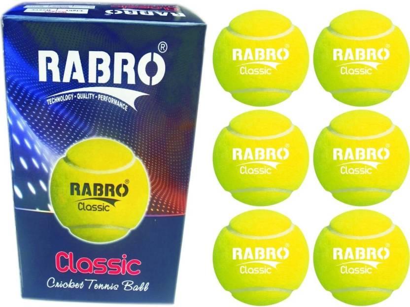 Rabro Classictennis Cricket Ball -   Size: 3
