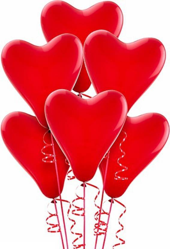 Flipkart Partyballoonshk Solid Red Heart Shaped Balloon Balloon