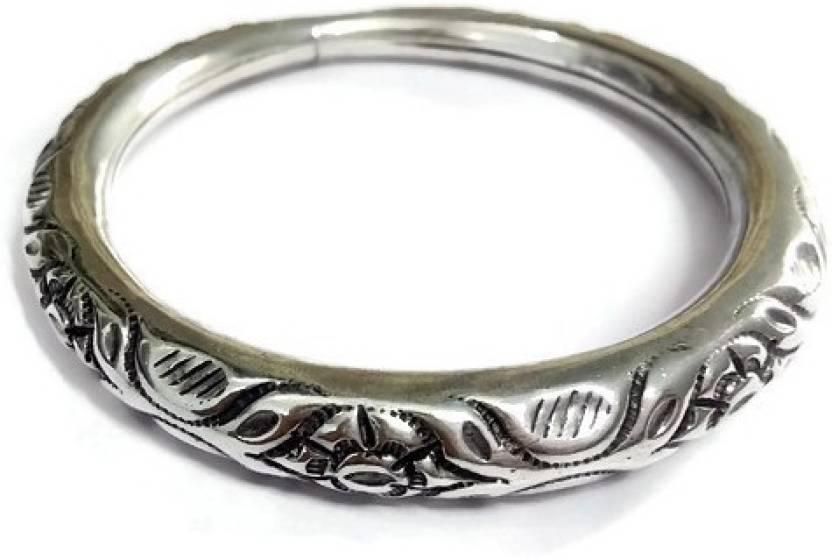 Albeli Impex Silver Silver Kada Price in India - Buy Albeli Impex