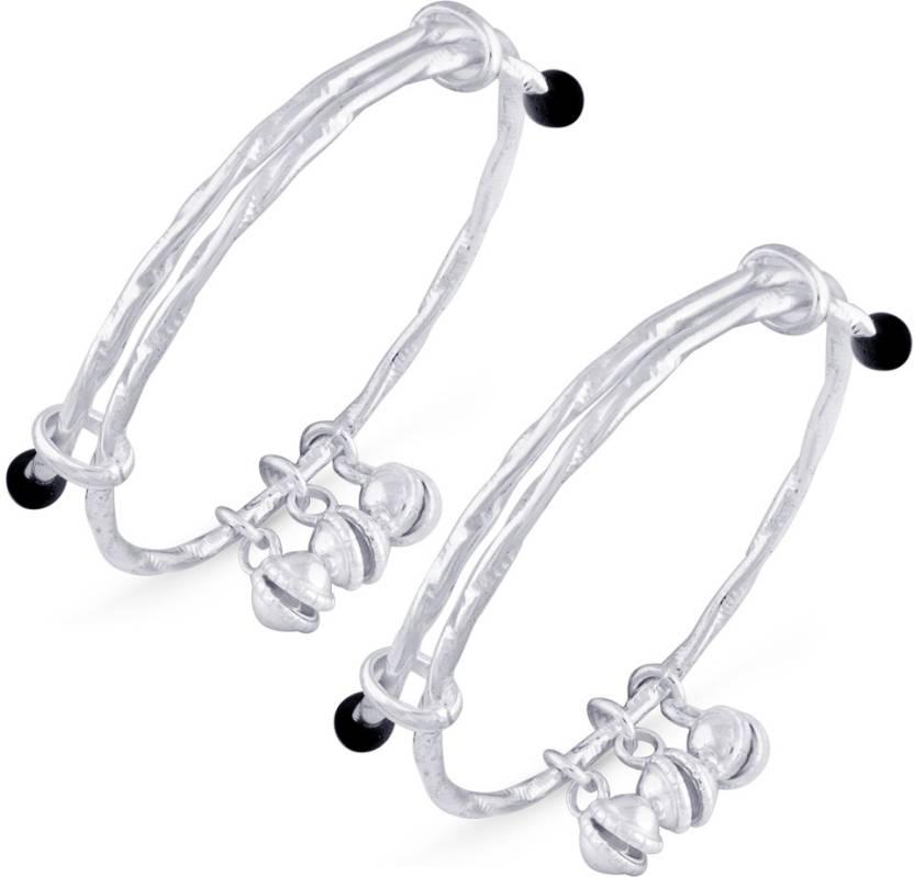 2b16764724e24 Taraash Sterling Silver Beads Bangle Price in India - Buy Taraash ...